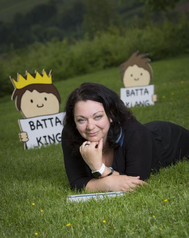 Bea LaSauce dans l'herbe